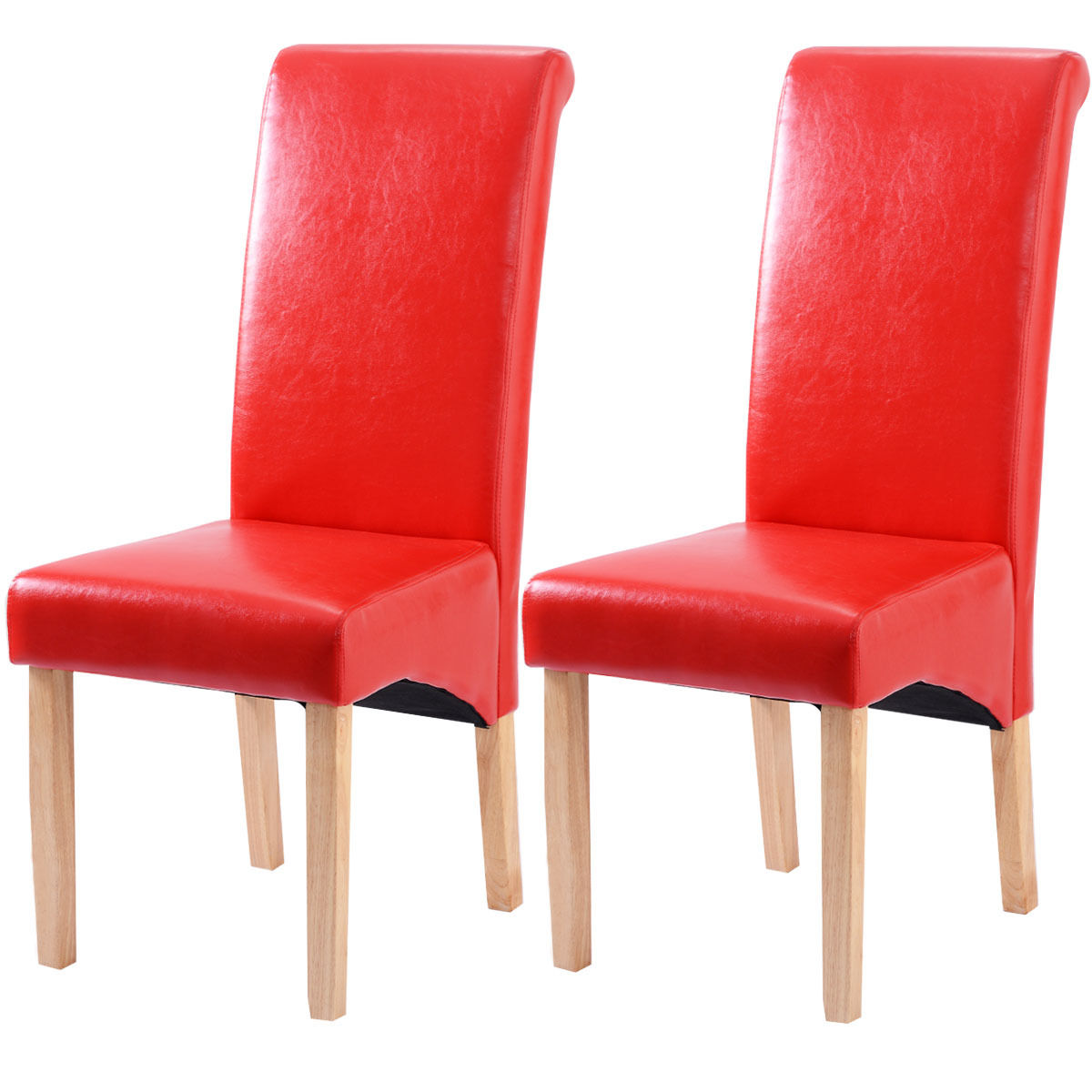Set of 2 Four Colors Contemporary Dining Chairs