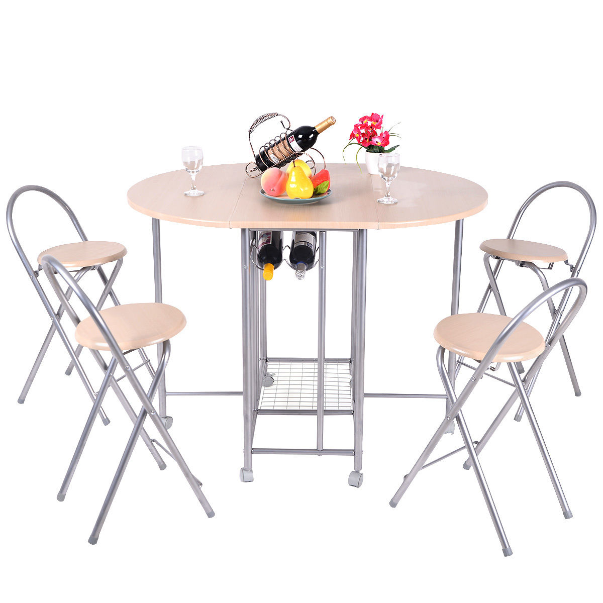 5 Pieces Foldable Dining Set