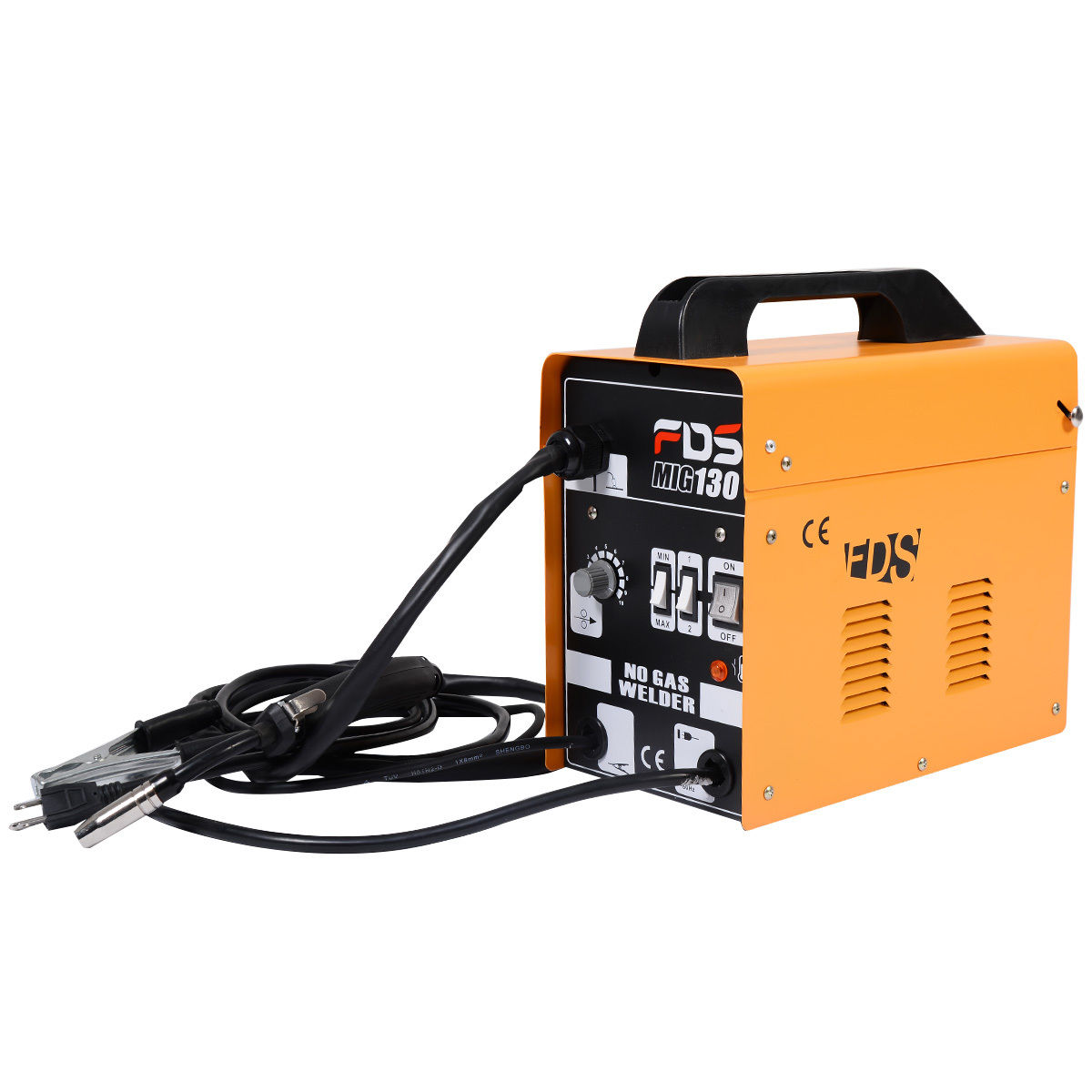 Yellow MIG 130 Automatic Feed Welding Machine w/ Free Mask