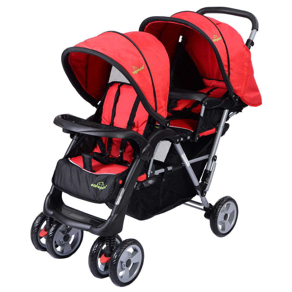 3 Color Foldable Twin Baby Double Stroller BB4476