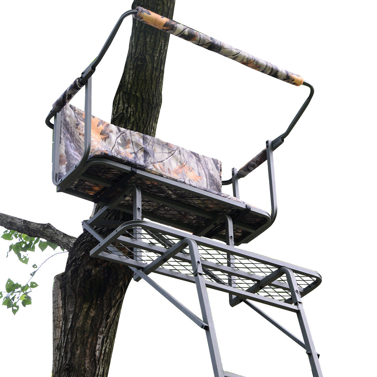 16' Two Man Hunting Ladder Stand Tree Stand Harness Seat Cushion thumbnail