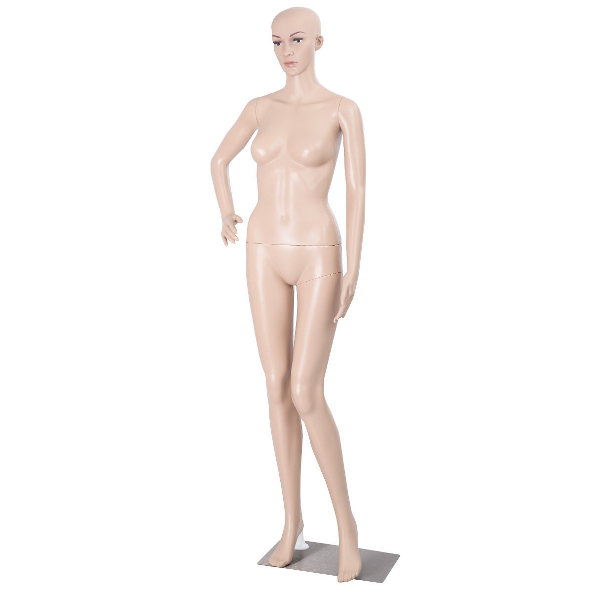 Akimbo Female Mannequin Plastic Realistic Display with Base