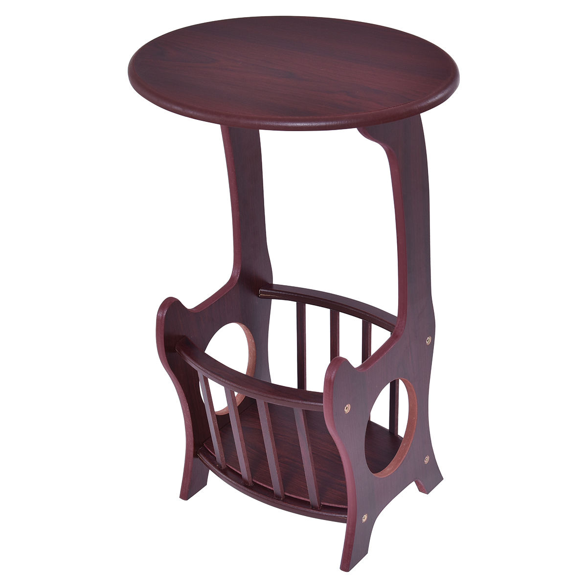 Oval Wooden End Table Coffee Table HW53922