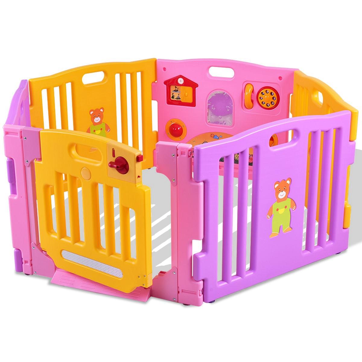 6 Panel Baby Playpen Kids Safety Play Center Yard