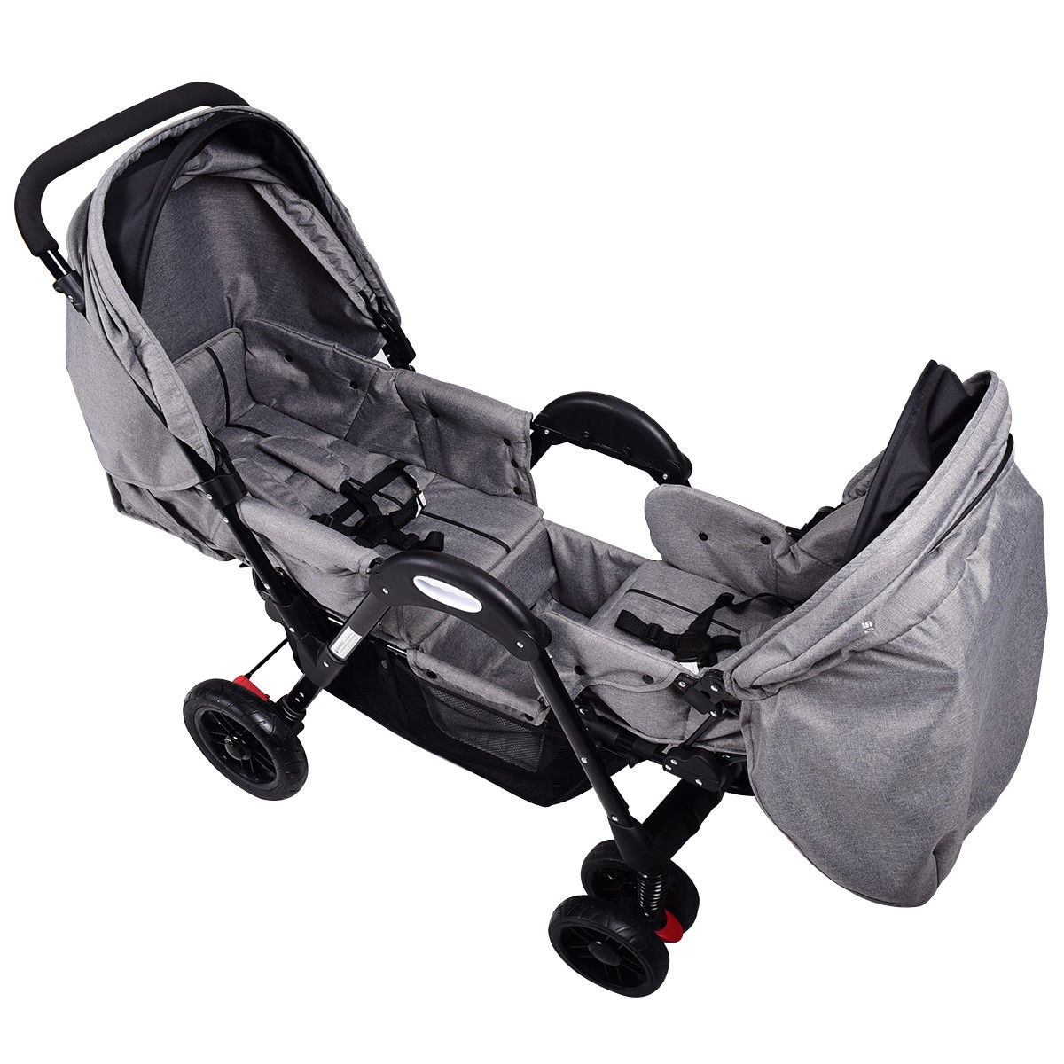 Foldable Face to Face Twin Baby Stroller with Reclining Seats