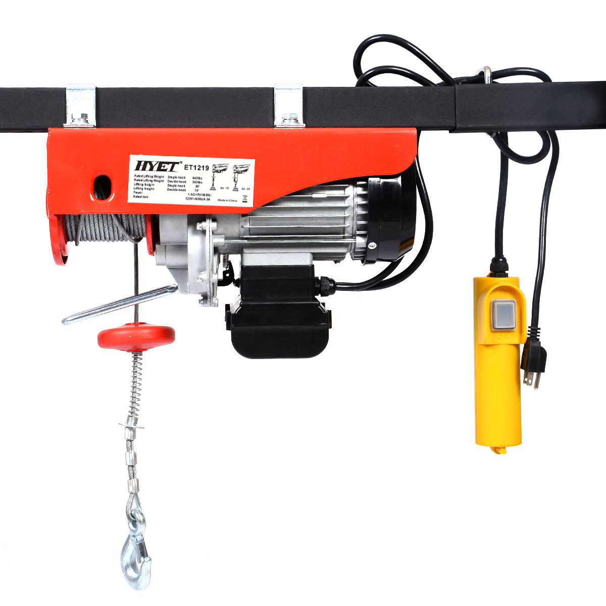 880 lbs Mini Electric Wire Hoist with Remote Control