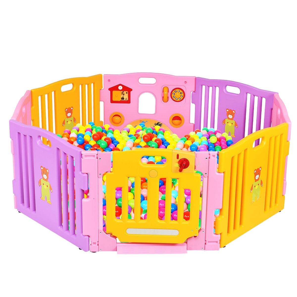 8 Panel Safety Play Center Baby Playpen