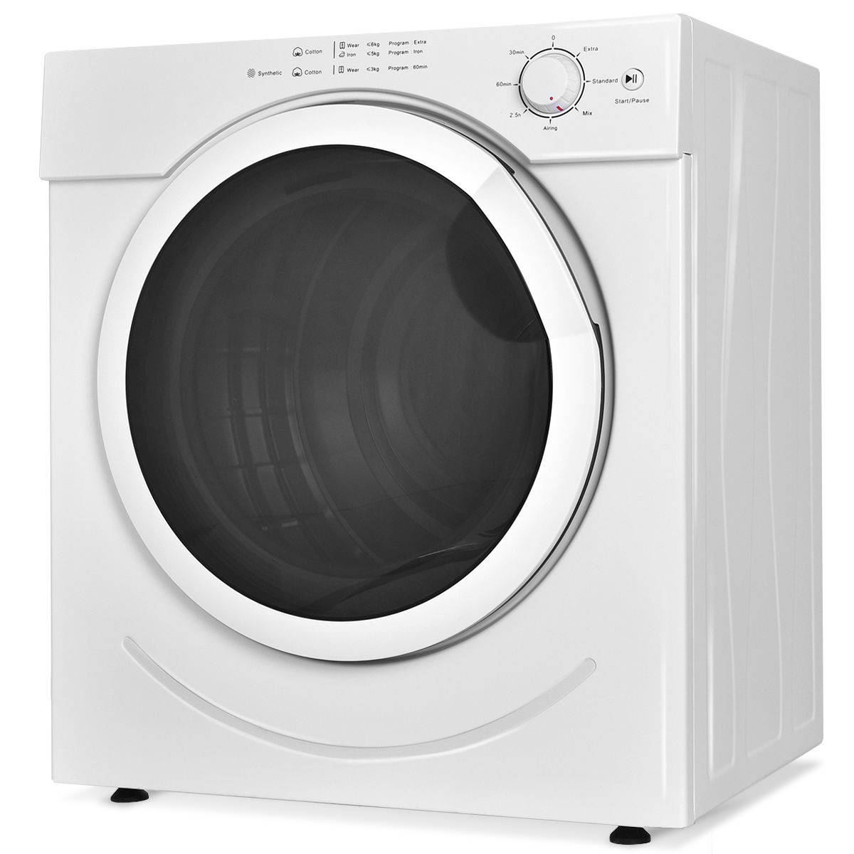 27 lbs 3.21 Cu. Ft. Electric Tumble Compact Cloths Dryer EP23047