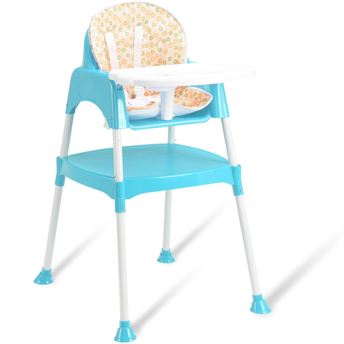 3 in 1 Convertible Table Seat Toddler Feeding Baby High Chair BB4479color