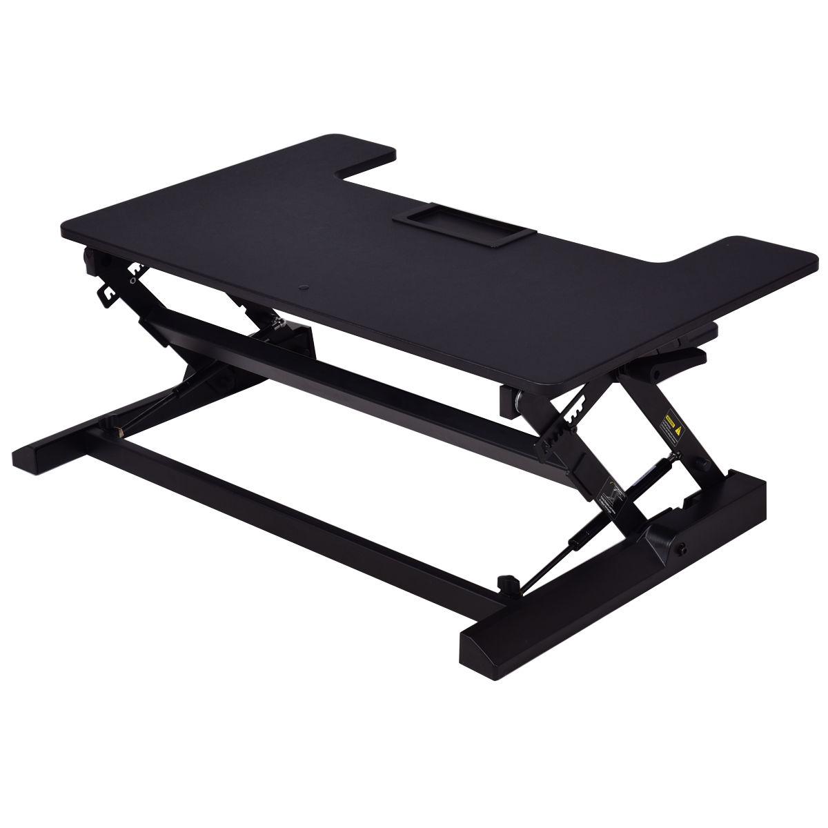 Height Adjustable Lift Rising Laptop Desk with Pen Slot HW56304