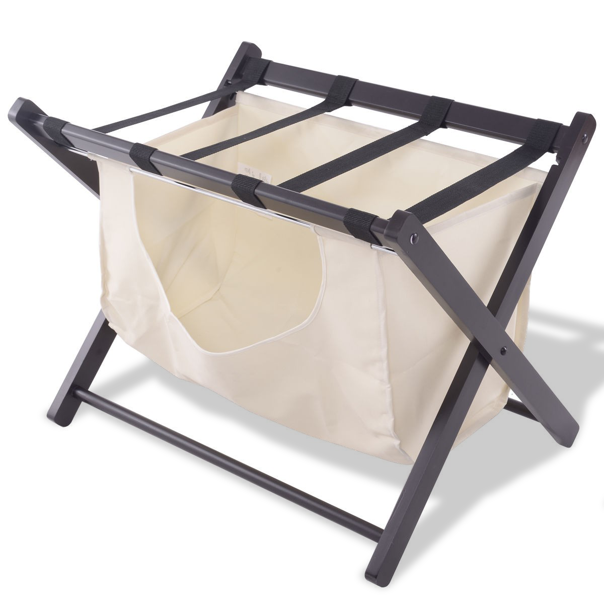 Home Folding Wood Luggage Rack