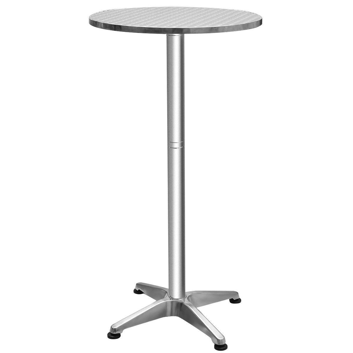 Stainless Steel Aluminium Round Folding Desktop Bar Table HW56168
