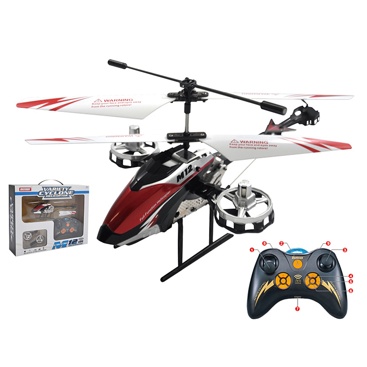 Skytech 4.5 CH M12 Infrared RC Helicopter Shoot Bubbles with Gyro