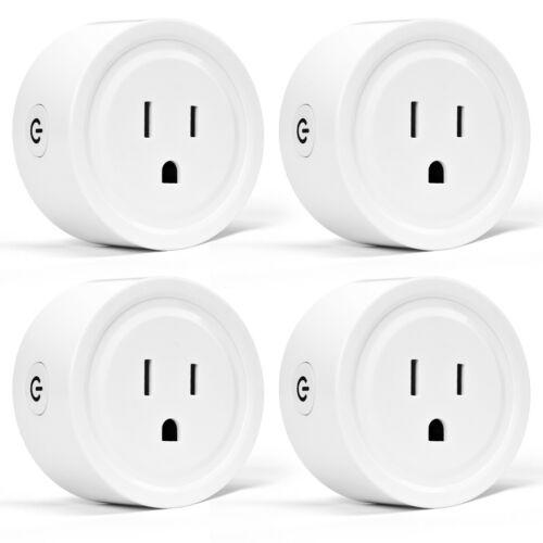 4pcs Smart Sockets Mini Wifi Smart Plug Outlet