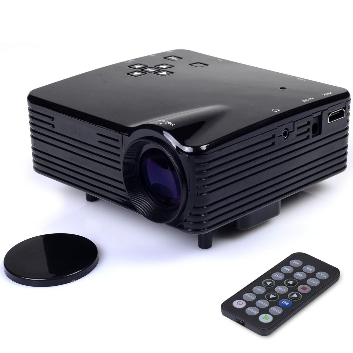 Mini Portable HD LED LCD Projector Home Cinema PC Laptop HDMI/VGA/AV/USB/SD EP20616