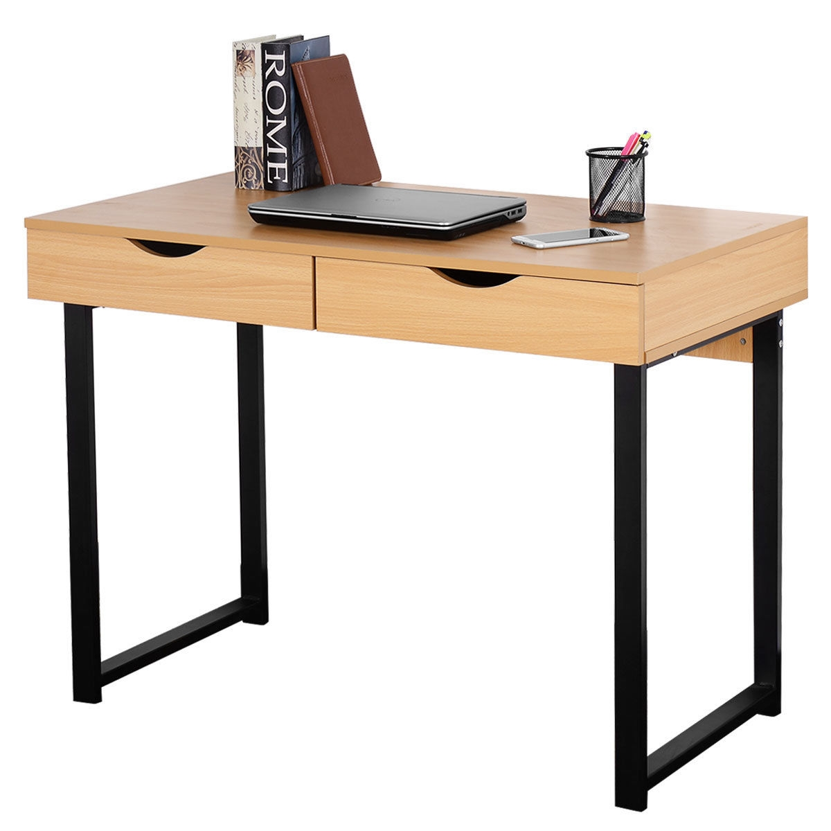 Modern Computer Desk with Two Drawers
