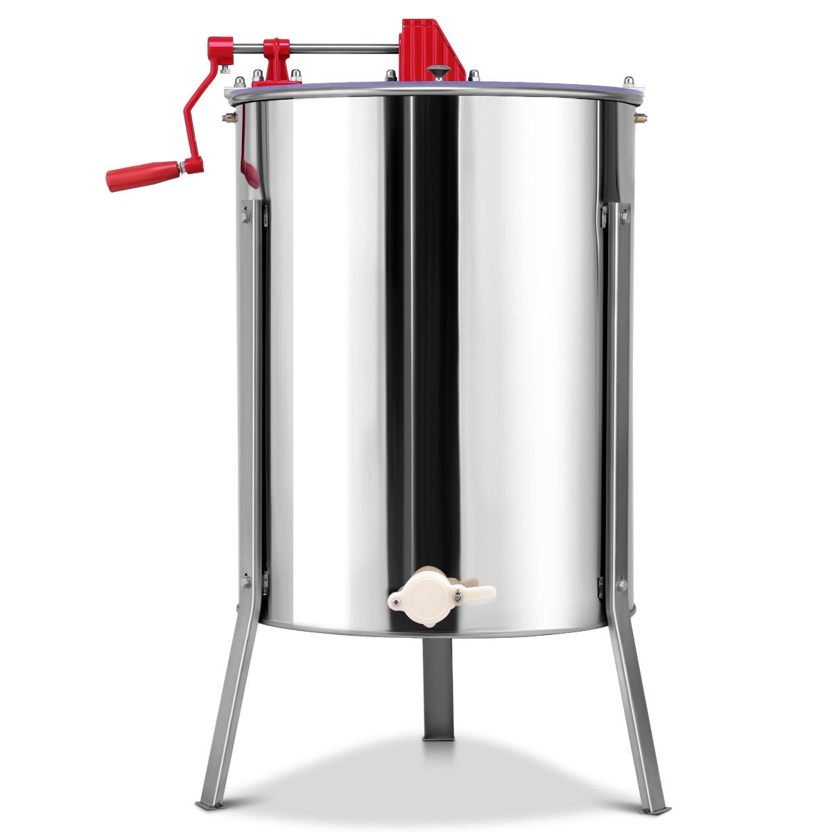 Stainless Steel Large 4/8 Frame Honey Extractor