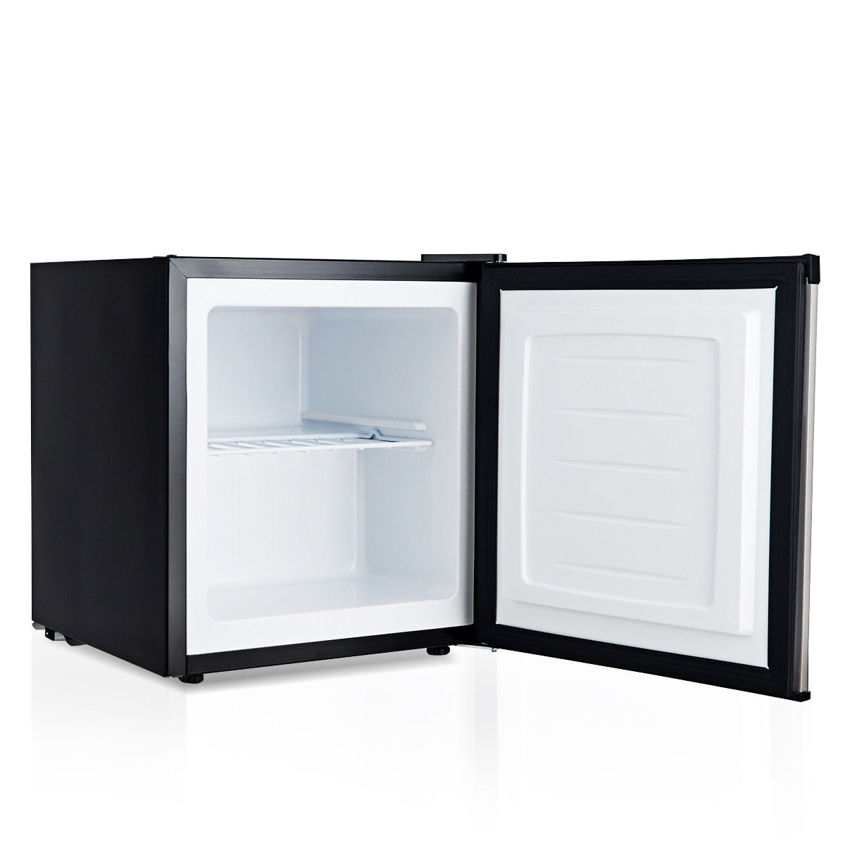 This is the compact but spacious upright freezer which can provide you a lot of storage. This stainless steel freezer fits in any small space where cold storage is needed. This space-saving compact upright freezer is designed with a flush back, allowing it to fit cleanly against the wall or into corners. The adjustable leveling leg can fit unique spaces and store all your go-to foods in an accessible wire pullout shelf. The adjustable thermostat can meet all your needs while keep your energy costs down. If you are looking for a freezer like that, don't hesitate to buy it. Freestanding setup design with 1.1 cubic feet capacity Stainless door and black cabinet presents a sleek and clean look Adjustable 7-grade temperature control to select your desired temperature Approximate temperature range of -8°f to 7°f A removable slide-out chrome shelf for your storage needs Classification storage decreases taint of odor and easy to locate food Recessed