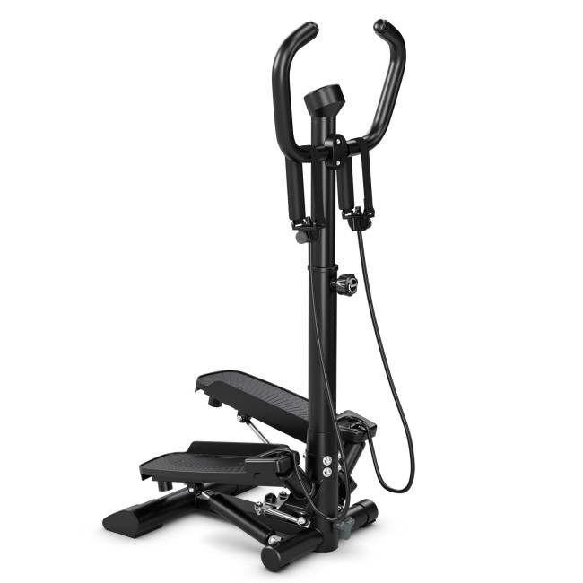Twist Stair Stepper Machine with Handlebar and Monitor