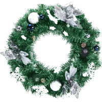 Battery Operated Xmas Wreath with 30 LED Lights