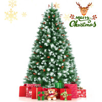 Artificial PVC Christmas Tree with Branch Tips and Metal Stand