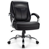 500 Pounds Big and Tall High Back Adjustable Leather Office Chair Task Chair