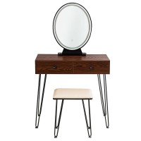 Industrial Makeup Dressing Table with 3 Lighting Modes