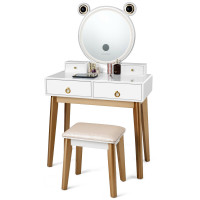 Vanity Table Touch Screen Dimming Mirror with Wireless Speakers