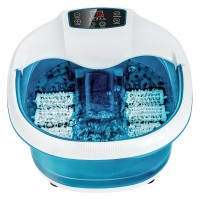 Foot Spa Tub with Bubbles and Electric Massage Rollers for Home Use
