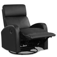 Recliner Chair Swivel Rocker Manual Single Sofa Lounger with Footrest