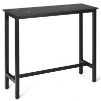 47 Inch Pub Dining Bar Bistro Table with Marble Top