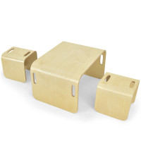 3 Piece Kids Wooden Table and Chair Set