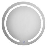"""20"""" LED Touch Button Wall Mount Bathroom Round Mirror"""