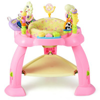 2-in-1 Baby Jumperoo Adjustable Sit-to-stand Activity Center
