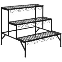 3 Tiers Metal Decorative Plant Stand