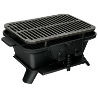 Heavy Duty Cast Iron Tabletop BBQ Grill Stove for Camping Picnic