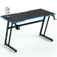 47.5 Inch Z-Shaped Computer Gaming Desk with Handle Rack