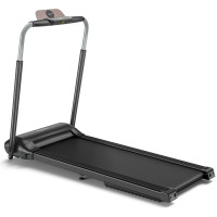 Compact Folding Treadmill with Touch Screen APP Control