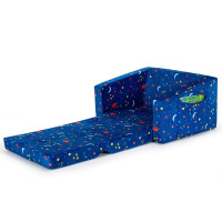 2-in-1 Convertible Kids Sofa with Velvet Fabric