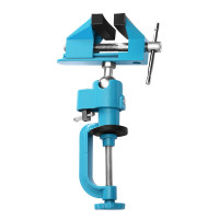 """Bench Vise Swivel 3"""" Tabletop Clamp Vice Tilts Rotate 360° Universal Work"""