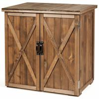 2.5 x 2 Ft Outdoor Wooden Storage Cabinet with Double Doors