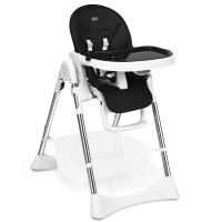 Foldable High Chair with Large Storage Basket