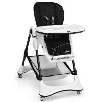 A-Shaped High Chair with 4 Lockable Wheels