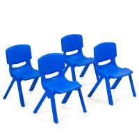 4-pack Kids Plastic Stackable Classroom Chairs