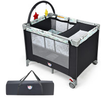 Portable Baby Playard Playpen Nursery Center with Changing Station