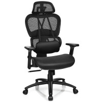 Mesh Office Chair Recliner with Adjustable Headrest