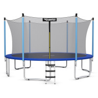 14 ft Trampoline Combo Bounce with Ladder and Enclosure Net