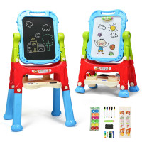 Height Adjustable Kids Art Easel Magnetic Double Sided Board