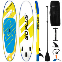 """10 ft Inflatable Stand Up Paddle Board 6"""" Thick with Backpack Leash Aluminum Paddle"""