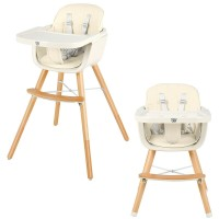 3 in 1 Convertible Wooden High Chair with Cushion